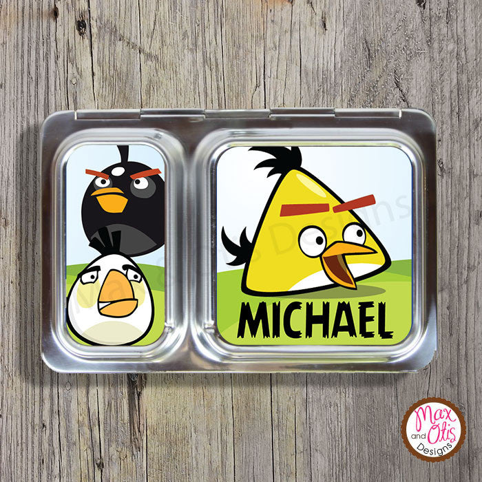 PlanetBox Shuttle Personalized Magnets - Angry Birds - Max & Otis Designs