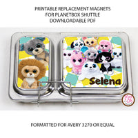 PlanetBox Shuttle Personalized Magnets - Beanie Boos - Max & Otis Designs