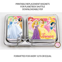 PlanetBox Shuttle Personalized Magnets - Disney Princesses - Max & Otis Designs