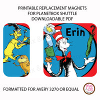 PlanetBox Shuttle Personalized Magnets - Dr. Seuss - Max & Otis Designs