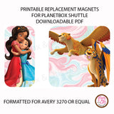 PlanetBox Shuttle Personalized Magnets - Elena of Avalor