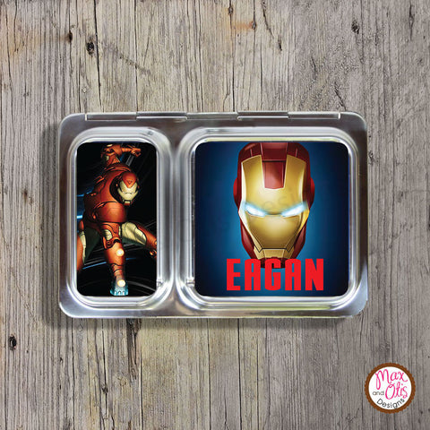 PlanetBox Shuttle Personalized Magnets - Iron Man - Max & Otis Designs