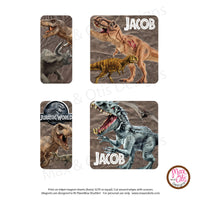 PlanetBox Shuttle Personalized Magnets - Jurassic World - Max & Otis Designs
