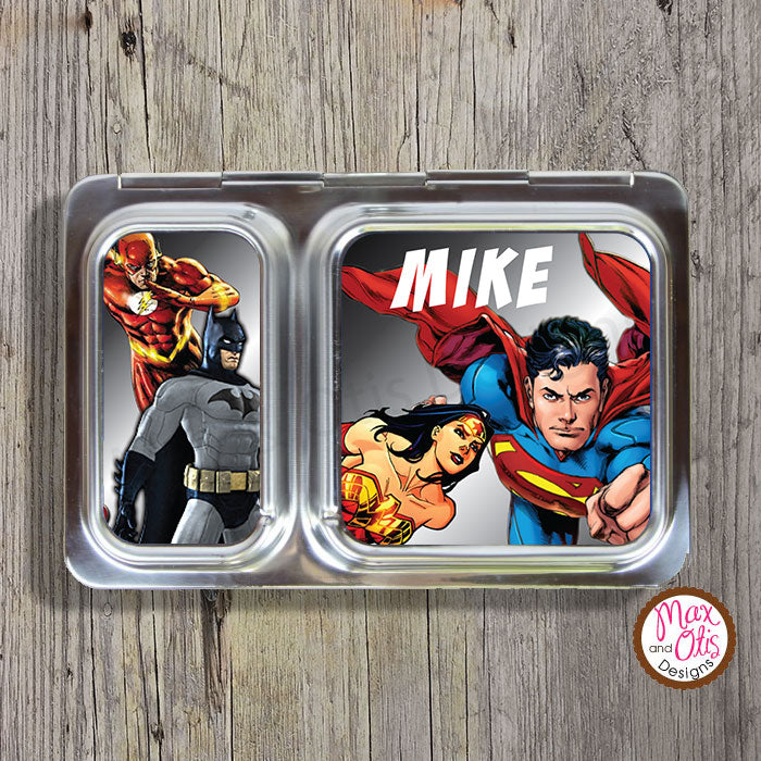PlanetBox Shuttle Personalized Magnets - Justice League - Max & Otis Designs