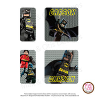 PlanetBox Shuttle Personalized Magnets - Lego Batman - Max & Otis Designs