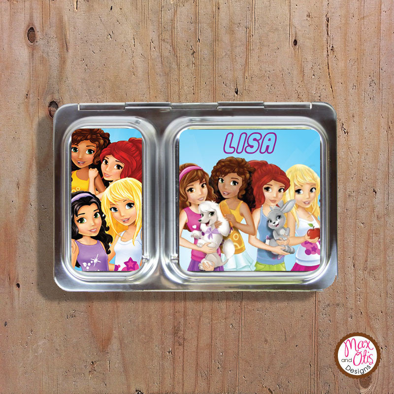 PlanetBox Shuttle Personalized Magnets - Lego Friends - Max & Otis Designs
