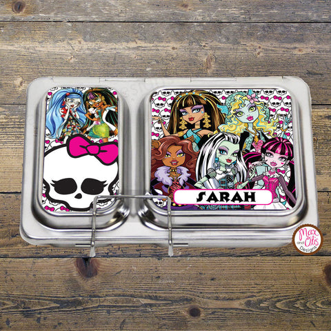 PlanetBox Shuttle Personalized Magnets - Monster High - Max & Otis Designs