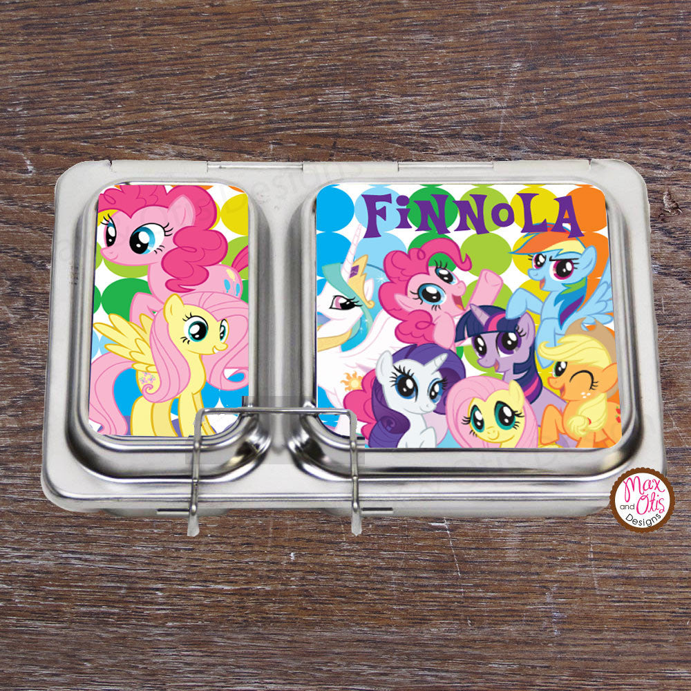 PlanetBox Shuttle Personalized Magnets - My Little Pony - Max & Otis Designs