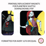 PlanetBox Shuttle Personalized Magnets - Nightmare Before Christmas