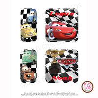 PlanetBox Shuttle Personalized Magnets - Pixar Cars - Max & Otis Designs