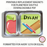 PlanetBox Shuttle Personalized Magnets - School - Max & Otis Designs