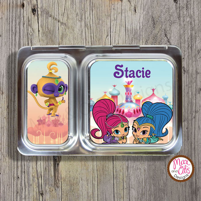 PlanetBox Shuttle Personalized Magnets - Shimmer & Shine - Max & Otis Designs