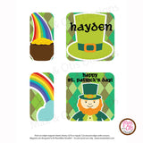 PlanetBox Shuttle Personalized Magnets - St. Patrick's Day - Max & Otis Designs
