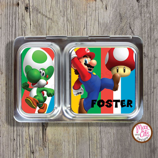 PlanetBox Shuttle Personalized Magnets - Super Mario Bros - Max & Otis Designs
