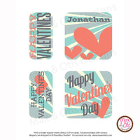PlanetBox Shuttle Personalized Magnets - Valentines Day - Max & Otis Designs
