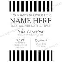 Baby Shower Invitation - She's ready to POP! Black (editable PDF) - Max & Otis Designs