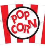 Printable Cupcake Wrappers - Popcorn Bucket (Assorted Colors)