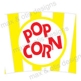 Printable Cupcake Wrappers - Popcorn Bucket (Assorted Colors) - Max & Otis Designs