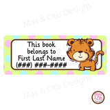 Printable Address Labels - Tigers