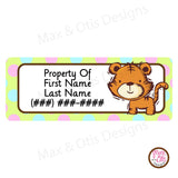 Printable Address Labels - Tigers - Max & Otis Designs