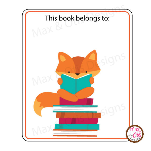 Printable Kid's Bookplate Stickers (Editable PDF)