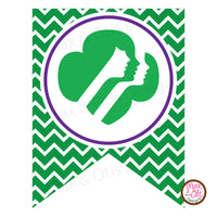 Girl Scout Printable Cookie Booth Banner - Editable PDF - Max & Otis Designs