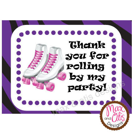 Printable Hershey Nuggets Stickers - Roller Skate (Purple)
