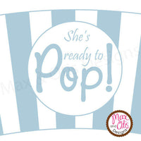 "Printable Cupcake Wrappers - Popcorn ""She's ready to POP!"" (Assorted Colors) - Max & Otis Designs"