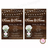 Rustic Party - Custom Invitation Printable - Max & Otis Designs
