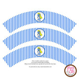 Printable Cupcake Wrappers - Smurfette - Max & Otis Designs