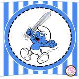 Printable Cupcake Wrappers - Smurf - Max & Otis Designs