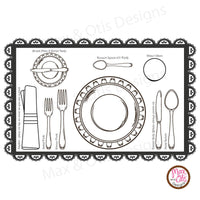 Girl Scout Printable Juniors Social Butterfly Badge Place Setting Place Mat - Max & Otis Designs