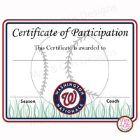 Softball Certificate of Participation (Editable PDF) - Max & Otis Designs