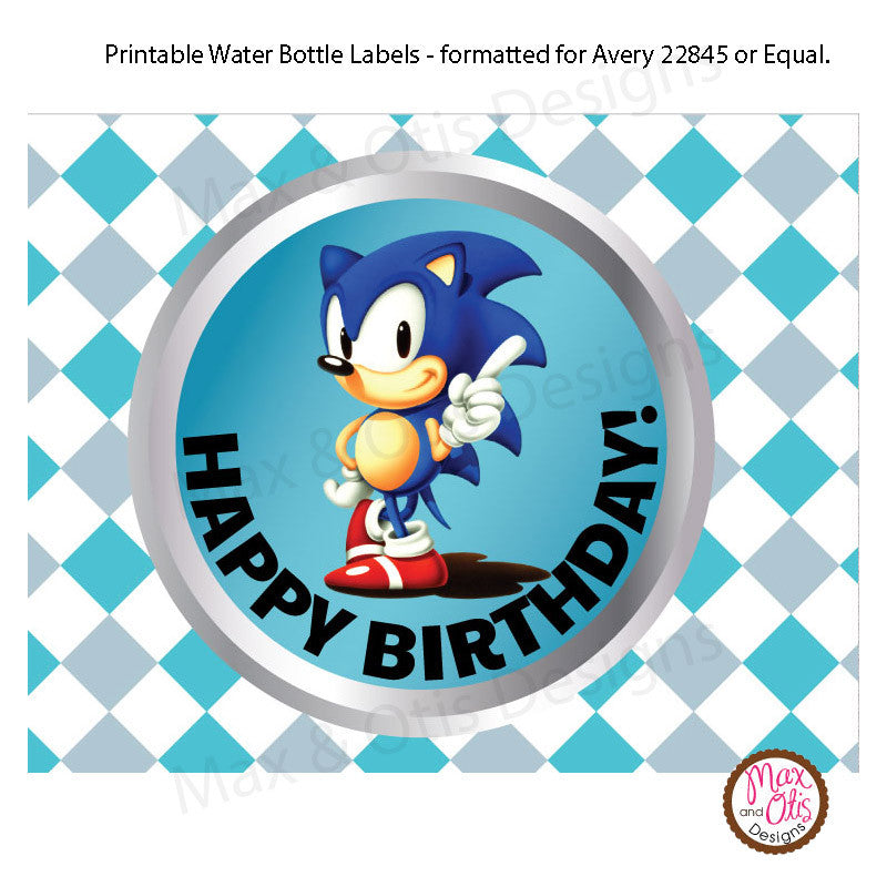 Printable Water Bottle Wrappers - Sonic The Hedgehog – Max & Otis Designs