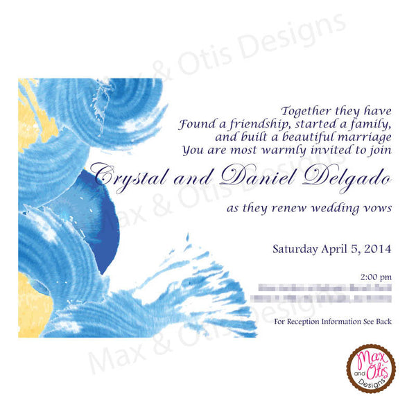 Artistic Party - Custom Invitation Printable - Max & Otis Designs