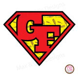 Printable Iron-On Transfer - Gluten Free Superman - Max & Otis Designs