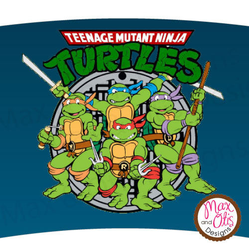 Printable Cupcake Wrappers - Teenage Mutant Ninja Turtles (Various Colors)