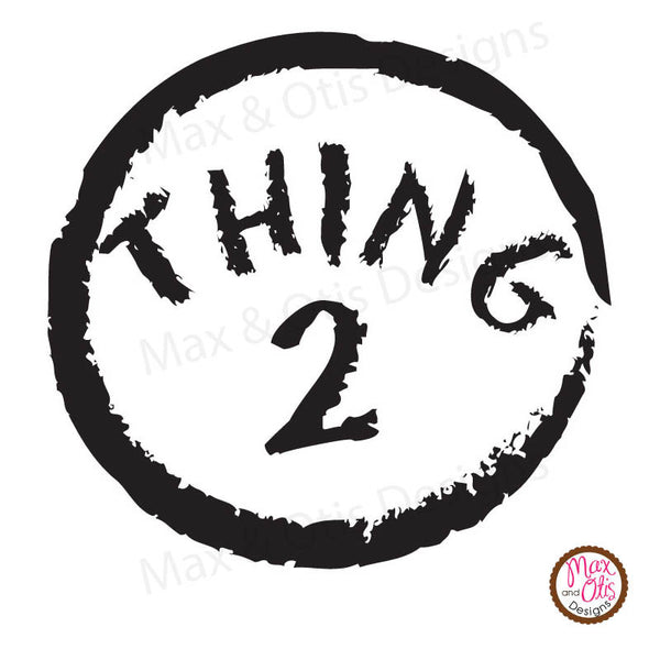 photo relating to Thing 2 Logo Printable known as Printable Iron-Upon Go - Issue 1 Detail 2 Max Otis