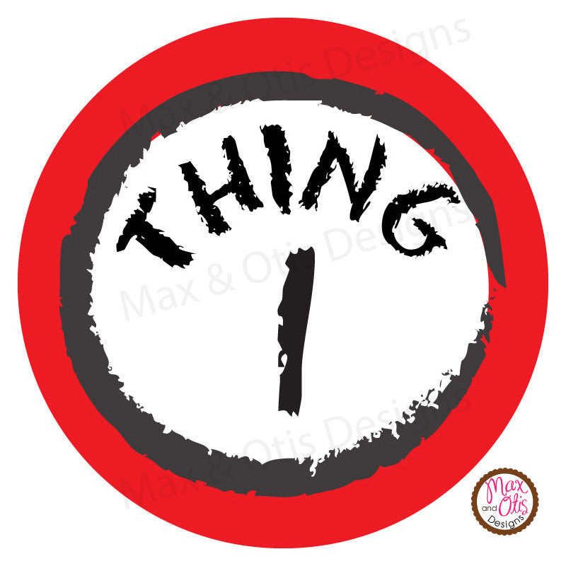 photograph relating to Thing 1 and Thing 2 Logo Printable named Printable 2