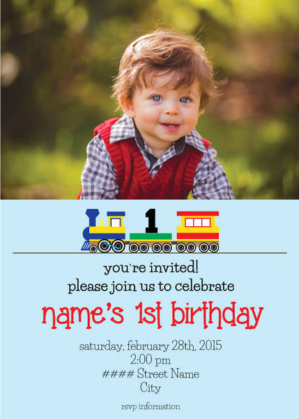 Train Birthday Party - Custom Invitation Printable - Max & Otis Designs