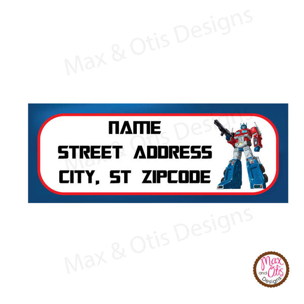 Printable Address Labels - Transformers - Max & Otis Designs