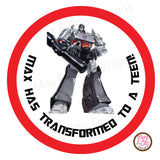 "Printable 2"" Tags & Labels - Transformers"