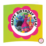 Printable Cupcake Wrappers - Trolls Movie - Max & Otis Designs
