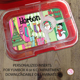 Yumbox Personalized Laminated Inserts - Christmas - Max & Otis Designs