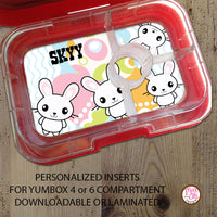 Yumbox Personalized Laminated Inserts - Easter Bunny - Max & Otis Designs