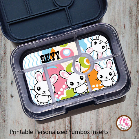 Yumbox Personalized Laminated Inserts - Easter Bunny