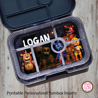 Yumbox Personalized Laminated Inserts - Five Nights at Freddy's - Max & Otis Designs
