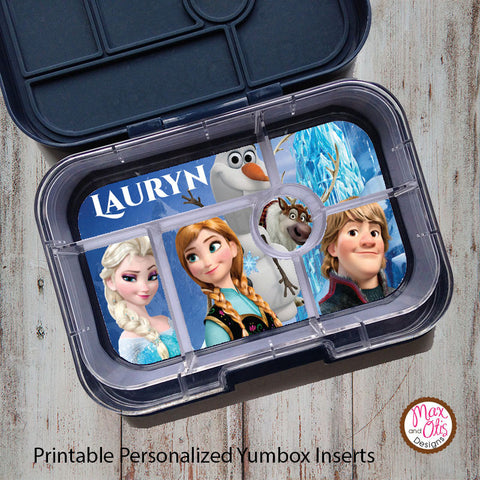 Yumbox Personalized Laminated Inserts - Disney's Frozen