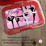 Yumbox Personalized Laminated Inserts - Gymnastics - Max & Otis Designs