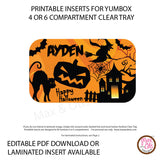 Yumbox Personalized Laminated Inserts - Halloween